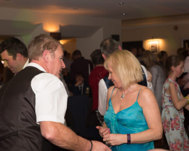 Wedding Photographer off duty and getting involved with the party action on the dance floor with Wedding DJ Cornwall.