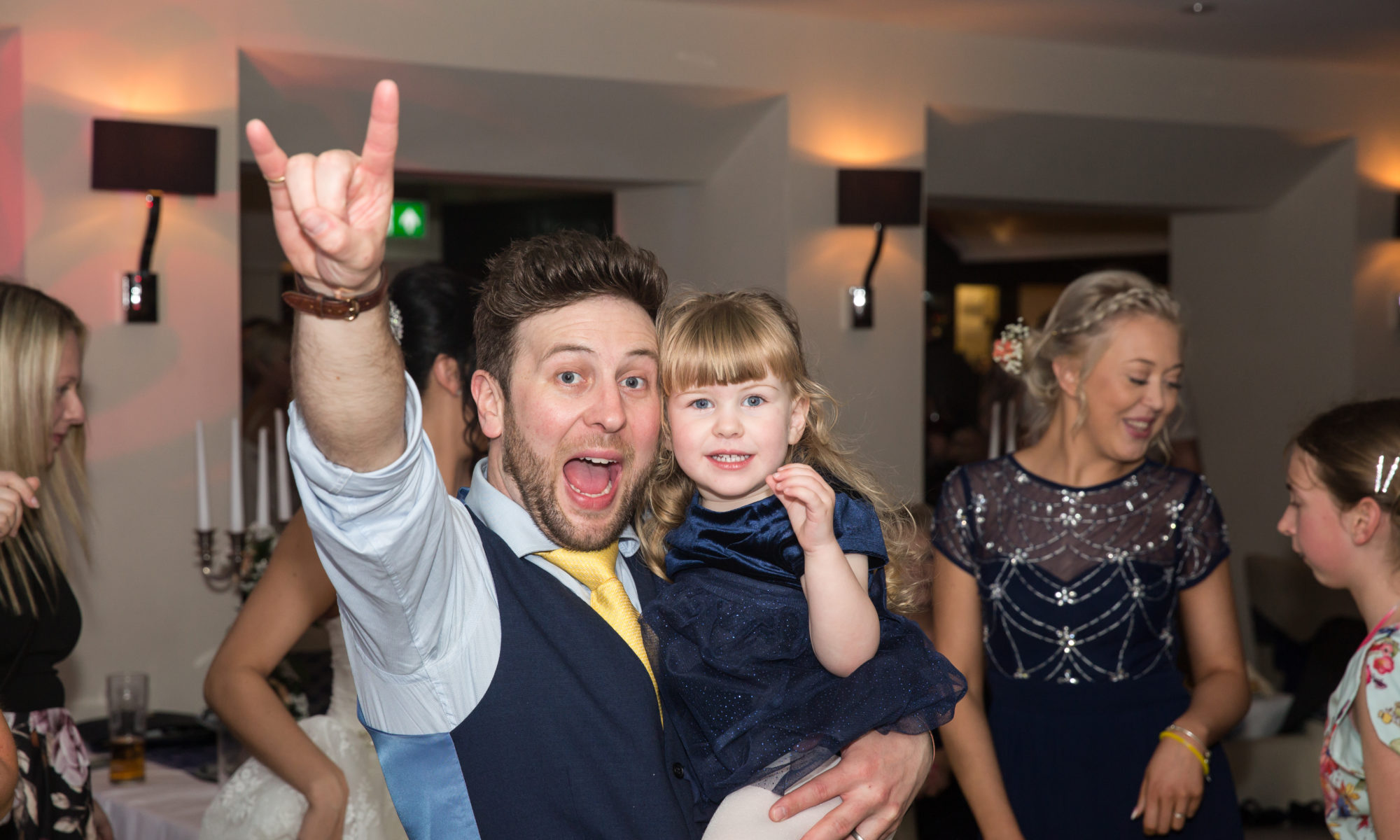 Party Time celebrating Emma & James Wedding at Carylon Bay with Wedding DJ Cornwall.