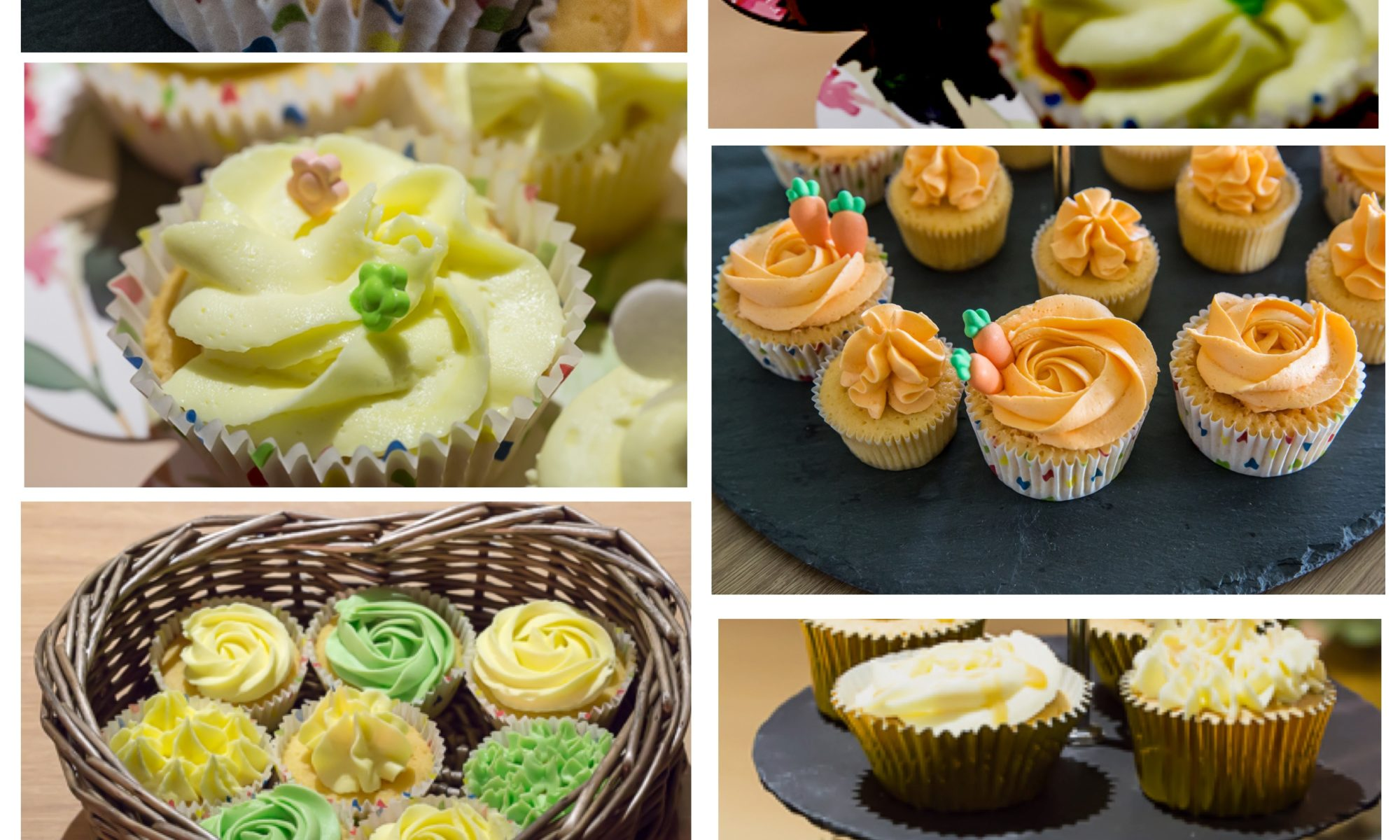 Sunkissed Wedding Cupcake Collage